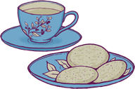 I like cookies and tea
