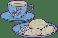 I like cookies and tea