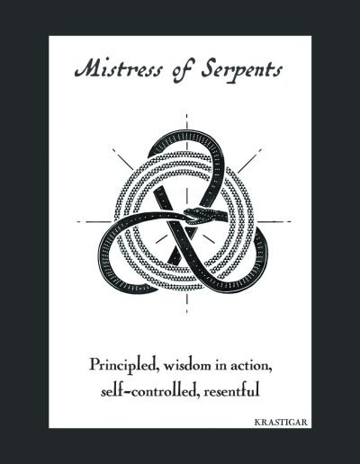 Mistress of Serpents trading card
